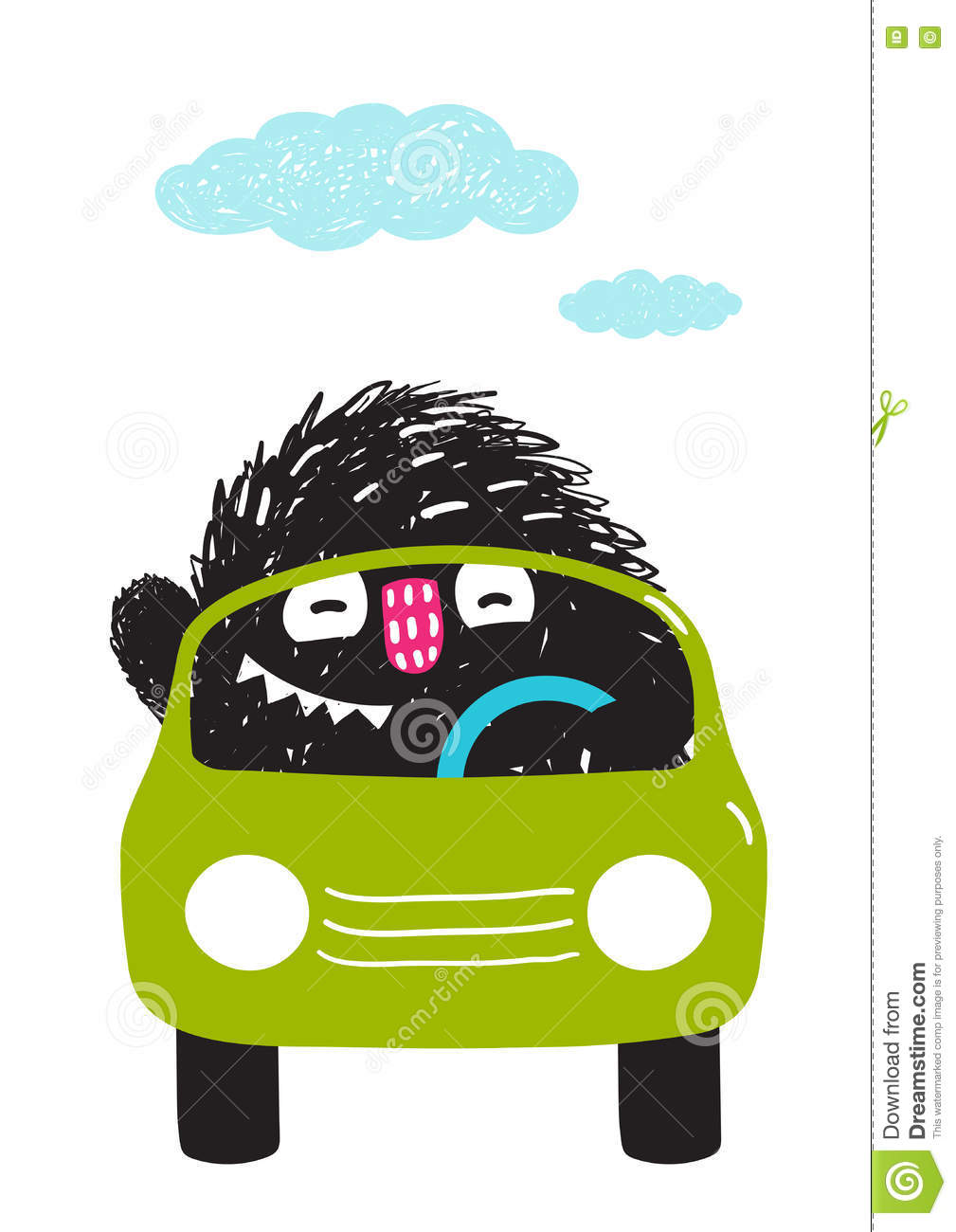 Monster driving car of car clipart clipart free Fun Monster Driving Car Cartoon For Kids Stock Vector - Image ... clipart free
