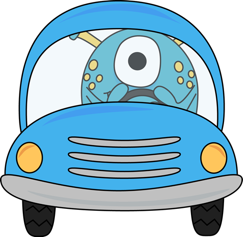 Monster driving car of car clipart svg stock Car Clip Art - Car Images svg stock