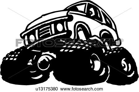 Monster driving car of car clipart vector library download Clipart of , drive, auto, automobile, big, bigfoot, car, monster ... vector library download