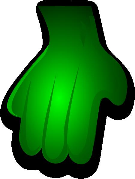 Monster hands clipart image transparent stock Green Monster Hand Clip Art at Clker.com - vector clip art online ... image transparent stock