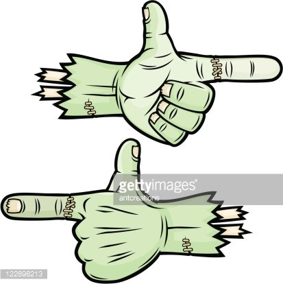 Monster hands clipart clip library library Scary Pointing Thumbs UP Monster Hands premium clipart - ClipartLogo.com clip library library