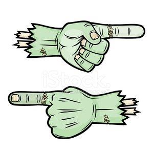 Monster hands clipart jpg transparent Scary Pointing Monster Hands premium clipart - ClipartLogo.com jpg transparent