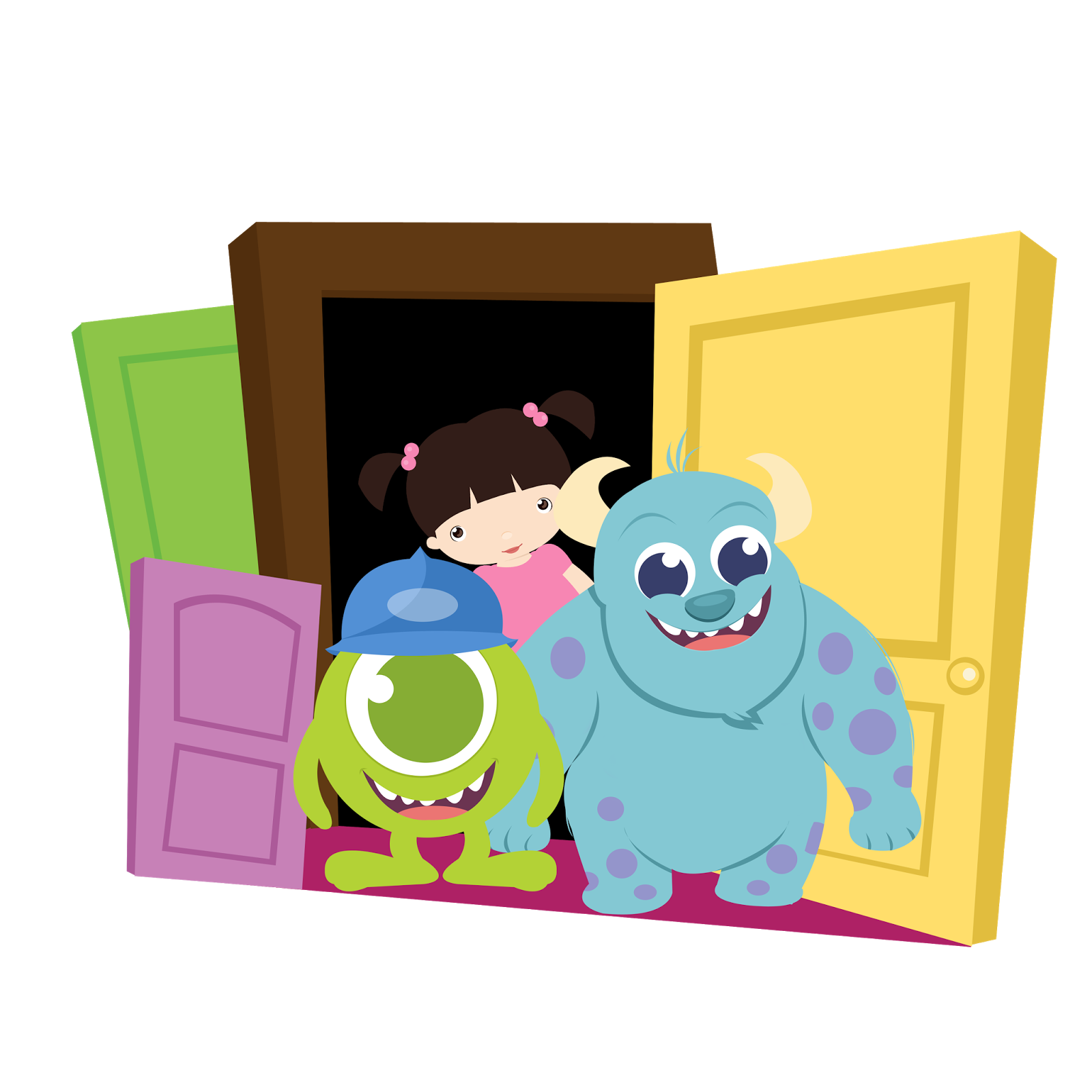 Monster house clipart vector Monster Inc. Babies Clip Art. | Oh My Baby! vector