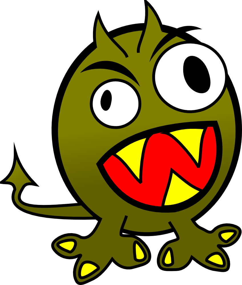Monster house clipart clip royalty free stock OnlineLabels Clip Art - Small Funny Angry Monster clip royalty free stock