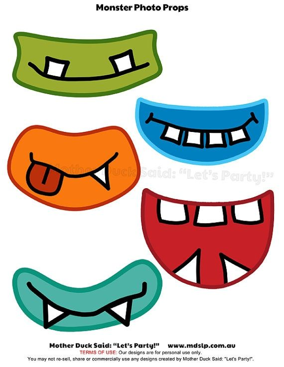 Monster mouths clipart clip freeuse Printable Monster Mouths Clipart | Clip Art | Monster photos ... clip freeuse
