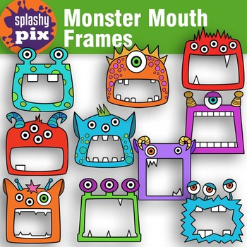 Monster mouths clipart png black and white download Monster Mouth Frames Clipart png black and white download