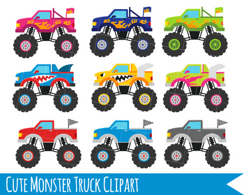 Monster truck pictures clipart vector royalty free library Monster Truck Clipart, Monster Trucks, Trucks clipart, Cute trucks vector royalty free library