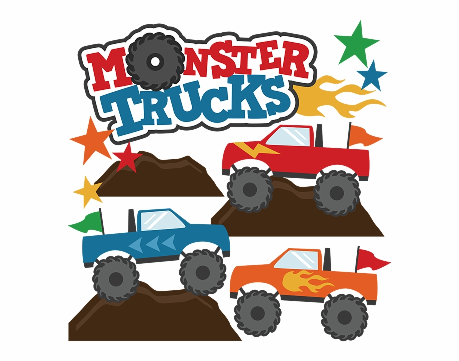 Monster trucks clipart clipart freeuse download Monster Trucks Svg Scrapbook Collections Monster Trucks - Clipart ... clipart freeuse download