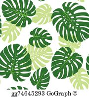 Monstera leaf clipart banner free stock Monstera Leaf Clip Art - Royalty Free - GoGraph banner free stock