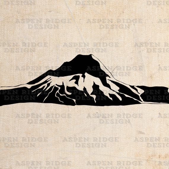 Montana clipart jpeg image banner black and white Mt Hood Graphic Clip Art Wilderness Vector, mount hood art, mountain ... banner black and white
