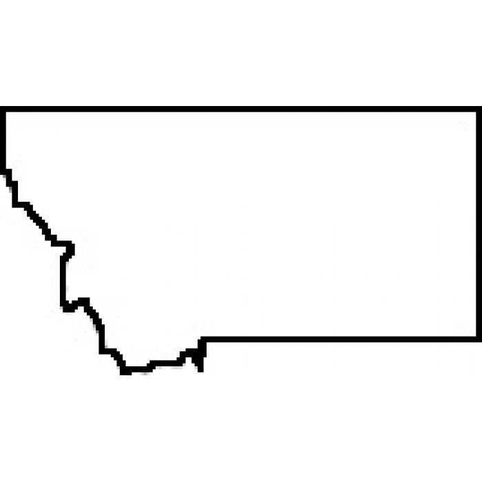 Montana clipart clip freeuse stock Blank Map of Montana | Teacher State of Montana Outline Map Rubber ... clip freeuse stock