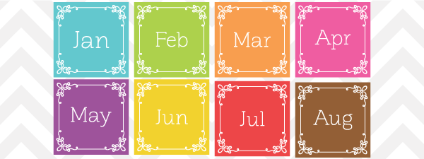 Month clip art banner freeuse Month Names Clipart - Clipart Kid banner freeuse