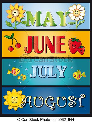 Month of august clipart jpg freeuse August Graphics Clipart - Clipart Kid jpg freeuse