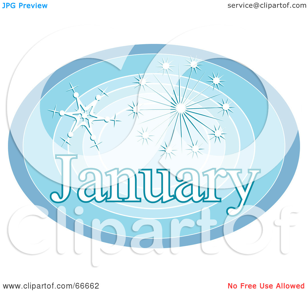 Month of january clipart svg library download Royalty-Free (RF) Clipart Illustration of a Month Of January ... svg library download