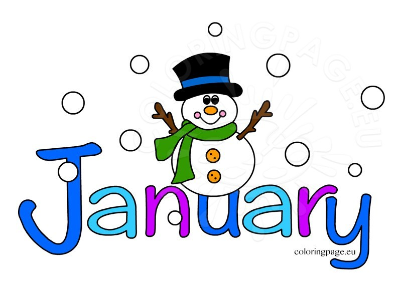Month of january clipart clip art stock Of January Clipart clip art stock