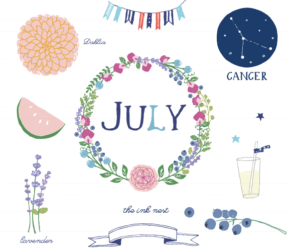 Month of july clipart image transparent stock Month Of July Clipart - Clipart Kid image transparent stock