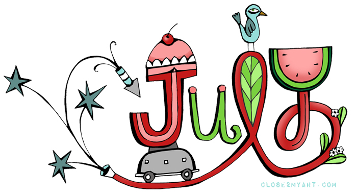 Month of july clipart clip library 17 Best images about (˘◡˘) Month to Month (˘◡˘) on Pinterest ... clip library