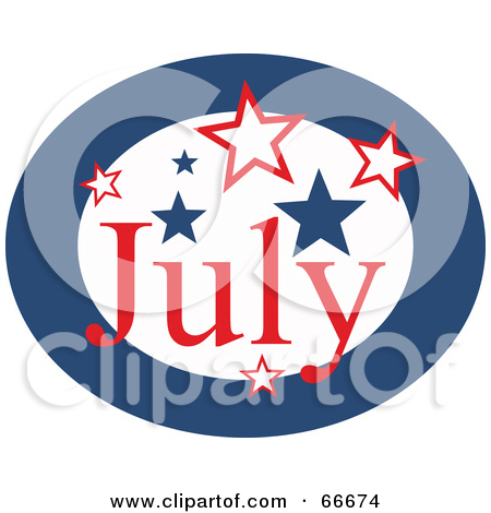 Month of july clipart image black and white library Royalty-Free (RF) Month Of July Clipart, Illustrations, Vector ... image black and white library