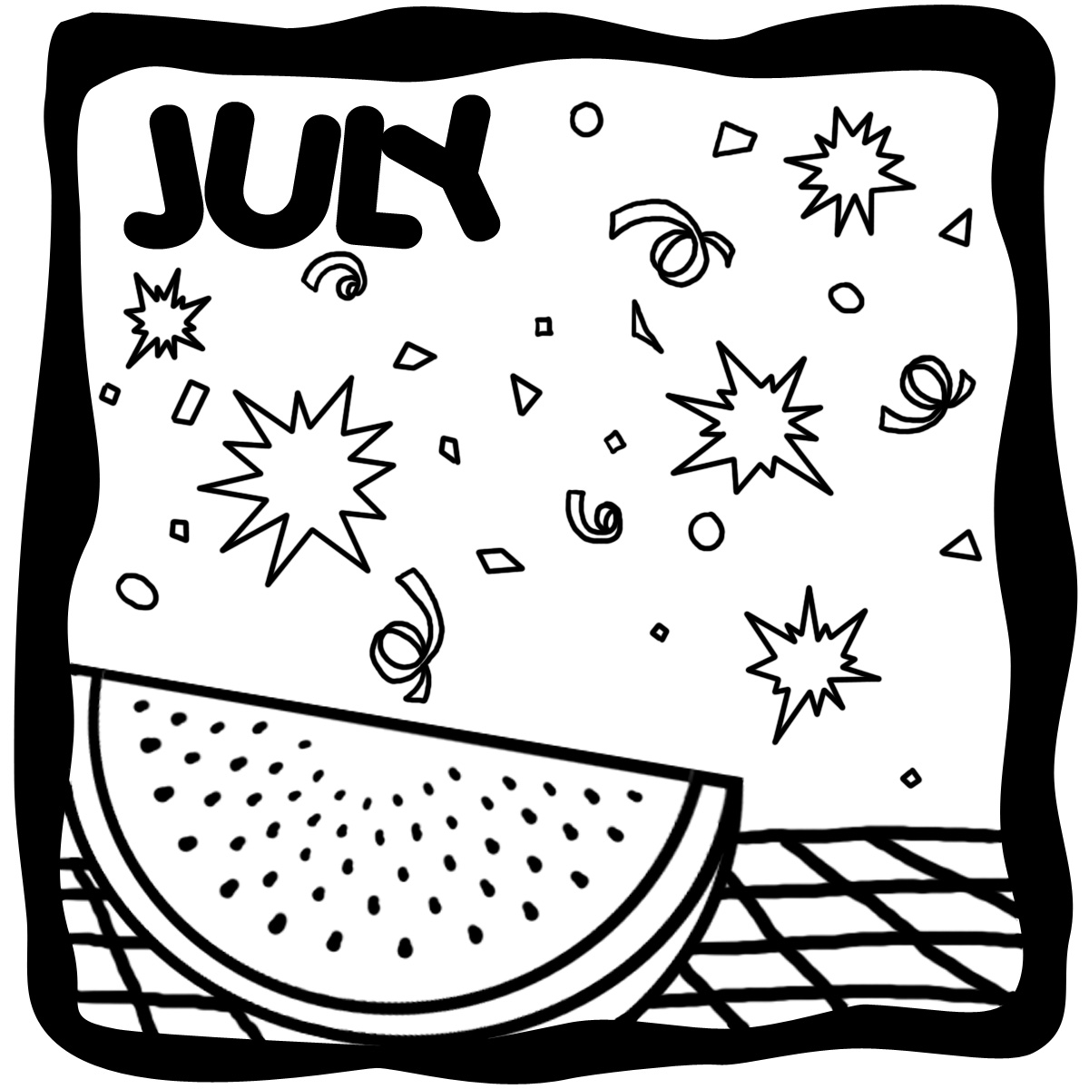 Month of july clipart graphic library stock Month Of July Black And White Clipart - Clipart Kid graphic library stock