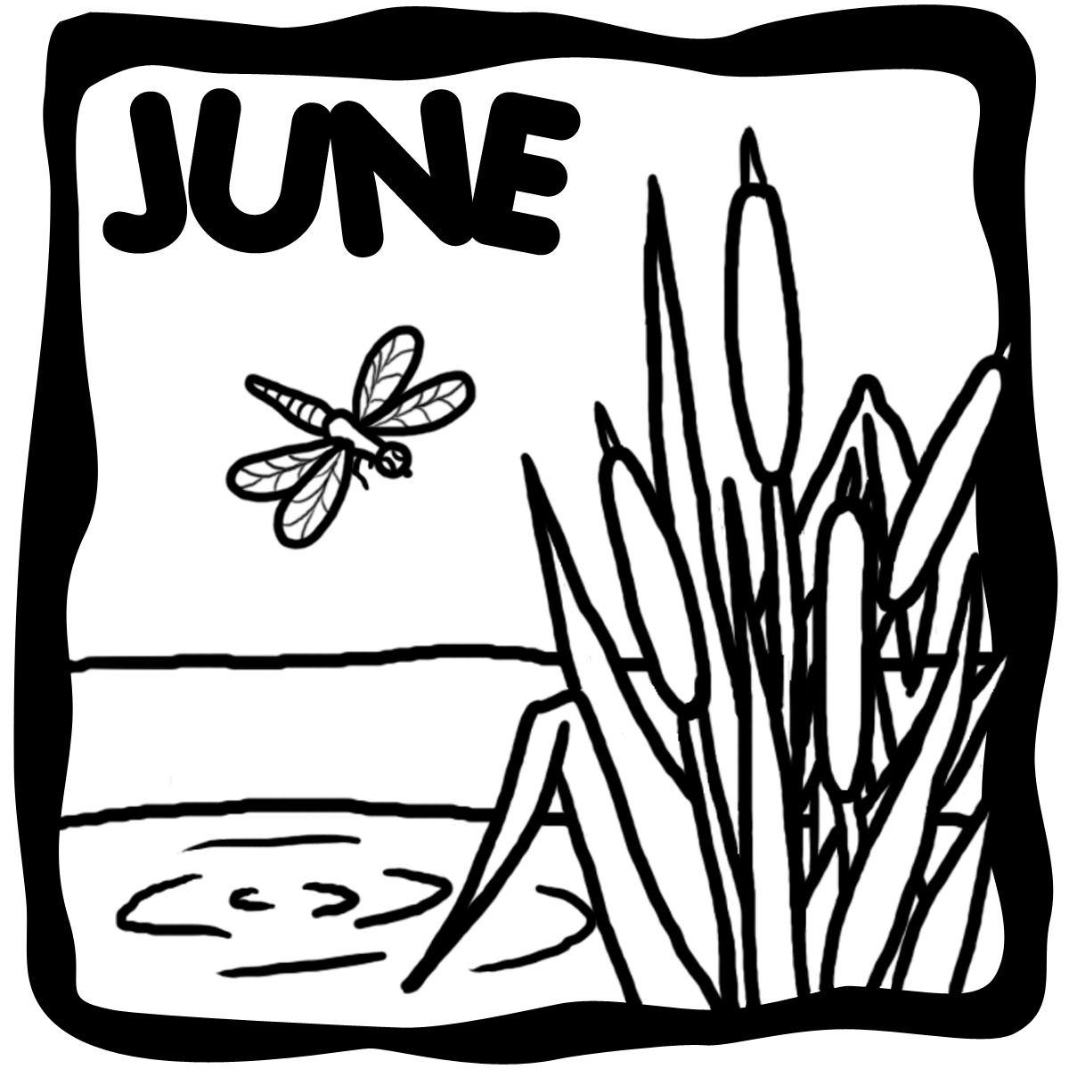Month of june clip art clip art Month Of June Black And White Clipart clip art