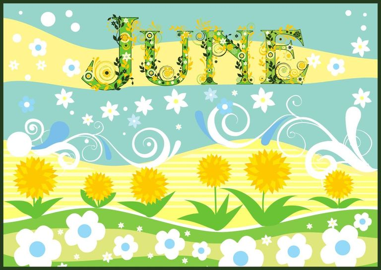 Month of june clip art png royalty free stock Facts About The Month Of June png royalty free stock