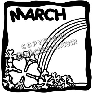 Month of march clip art download March clipart black and white - ClipartFest download