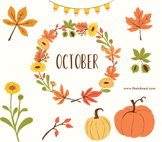 Month of october clipart jpg free Month of October Clip Art – Clipart Free Download jpg free