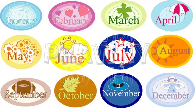 Month of the year clipart clipart free download Clipart month of the year - ClipartFest clipart free download