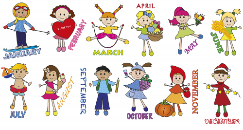 Month of the year clipart graphic freeuse stock Months of the year preschool clipart - ClipartFest graphic freeuse stock
