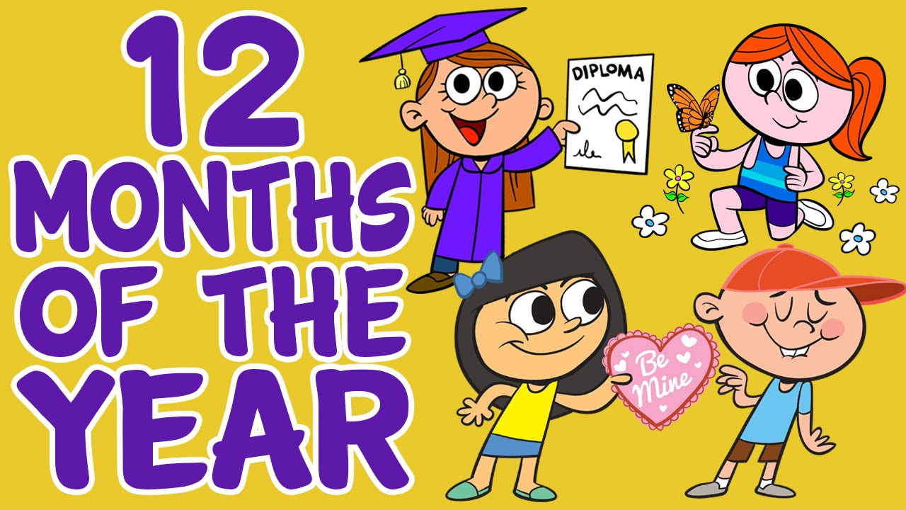 Month of the year clipart banner royalty free download Months of the Year Song - 12 Months of the Year - Kids Songs by ... banner royalty free download