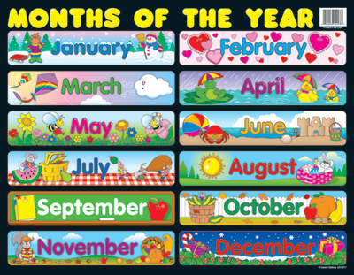 Month of the year clipart vector free library Free Worksheets : the months of the year The Months Of The Year ... vector free library