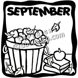 Month september clipart clip art library library Month september clipart black and white - ClipartFest clip art library library