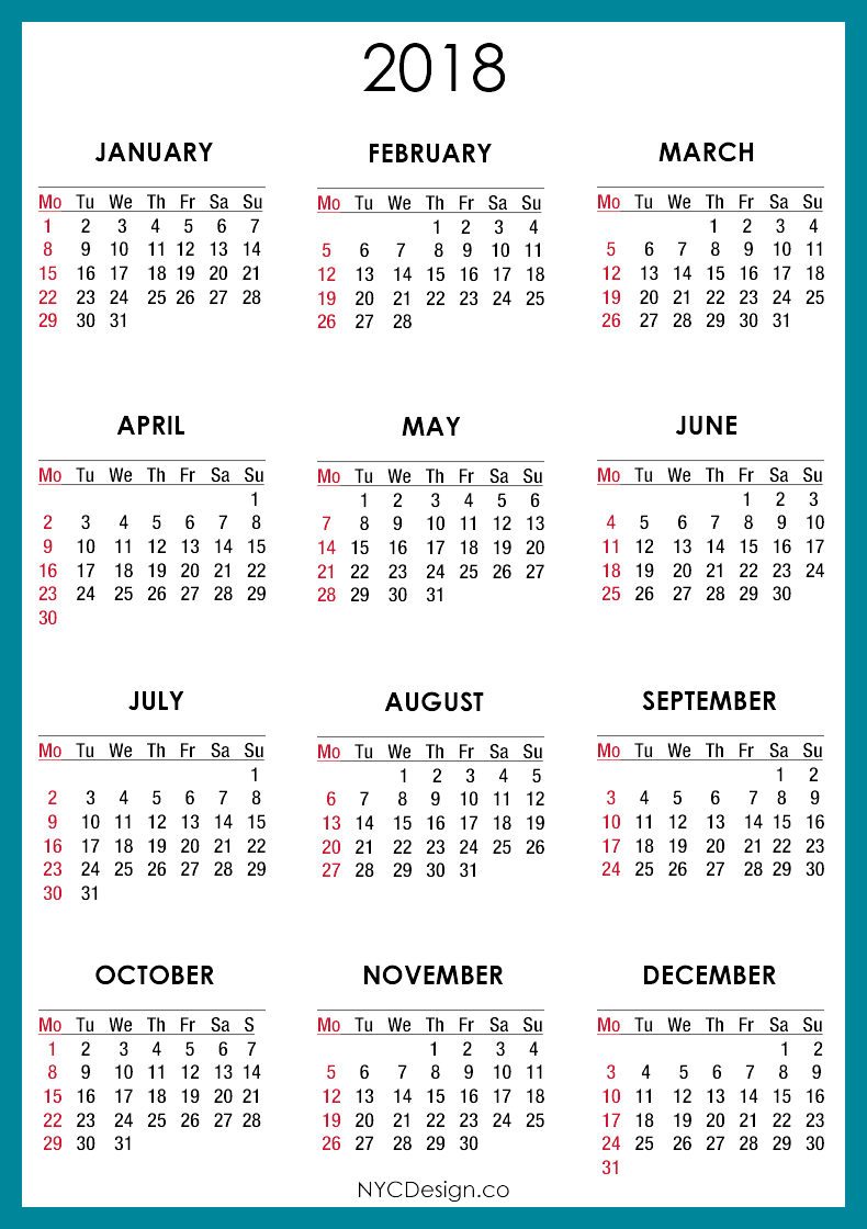 Monthly calendar clipart august vector freeuse download 2018 Calendar PNG Transparent Images | PNG All vector freeuse download