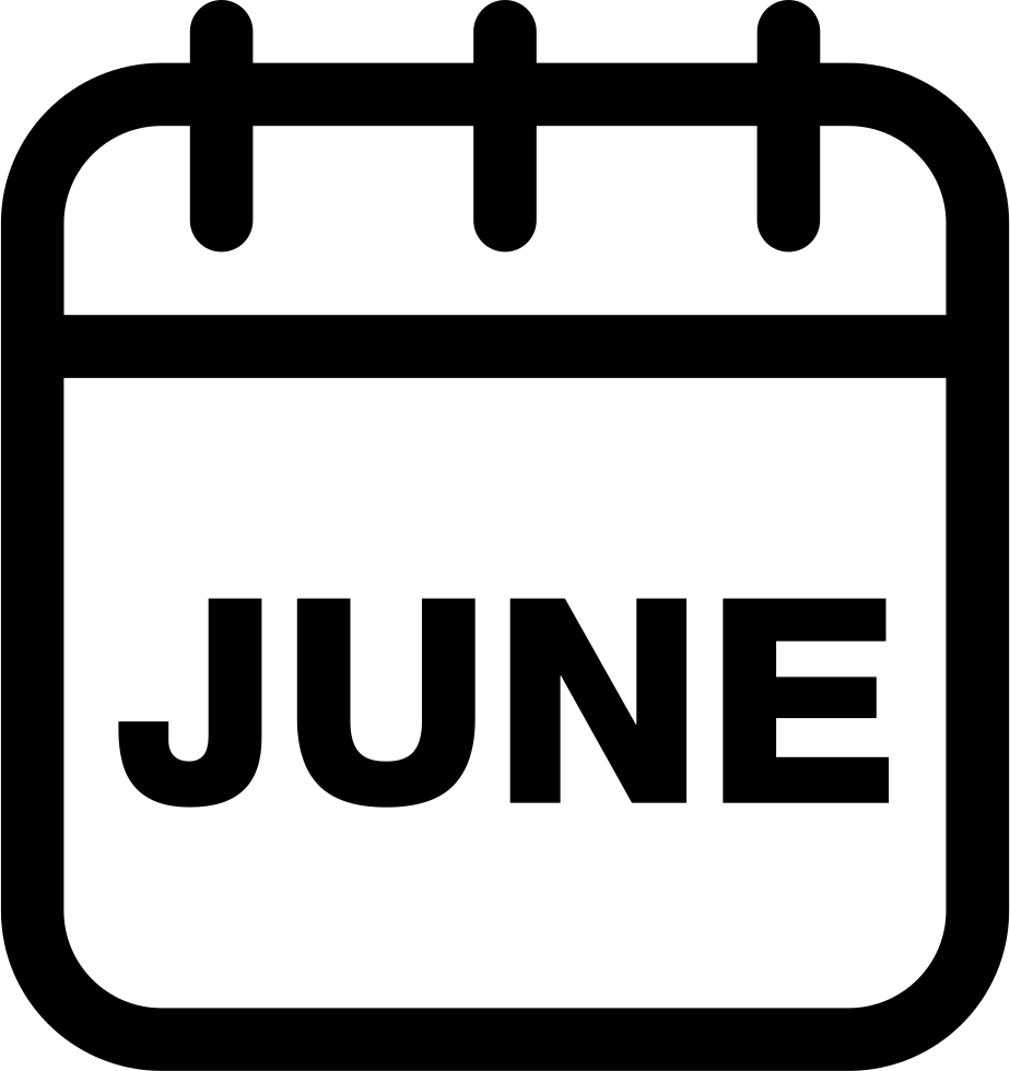 Monthly calendar clipart june clip black and white June Calendar Monthly Page Svg Png Icon Free Download (#51155 ... clip black and white