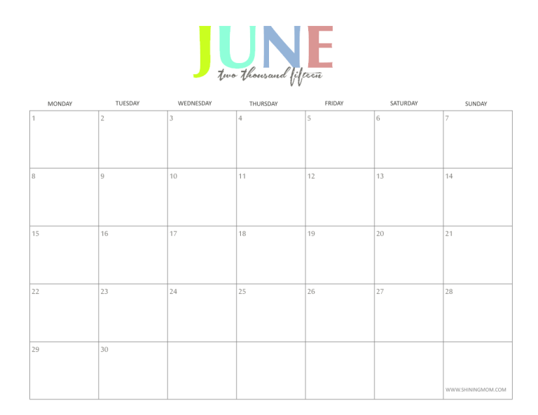 Monthly calendar clipart june vector black and white download 2014 Month Of June Clipart - Clipart Kid vector black and white download