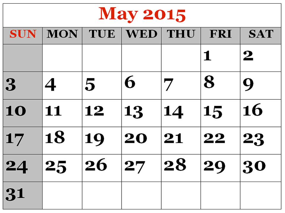 Monthly calendar clipart may picture freeuse library May 2015 Calendar Clipart - Clipart Kid picture freeuse library
