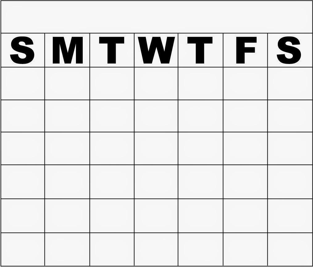 Monthly calendar clipart template clip transparent Monday Through Friday Monthly Calendar Template | Calendar Template clip transparent