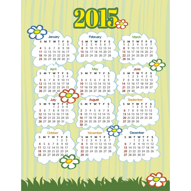 Monthly calendar clipart template picture freeuse Monthly calendar clipart template - ClipartFest picture freeuse