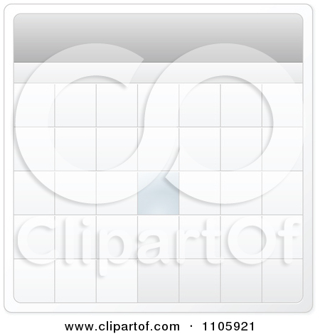 Monthly calendar clipart template clip library library Clipart Monthly Calendar Template - Royalty Free Vector ... clip library library