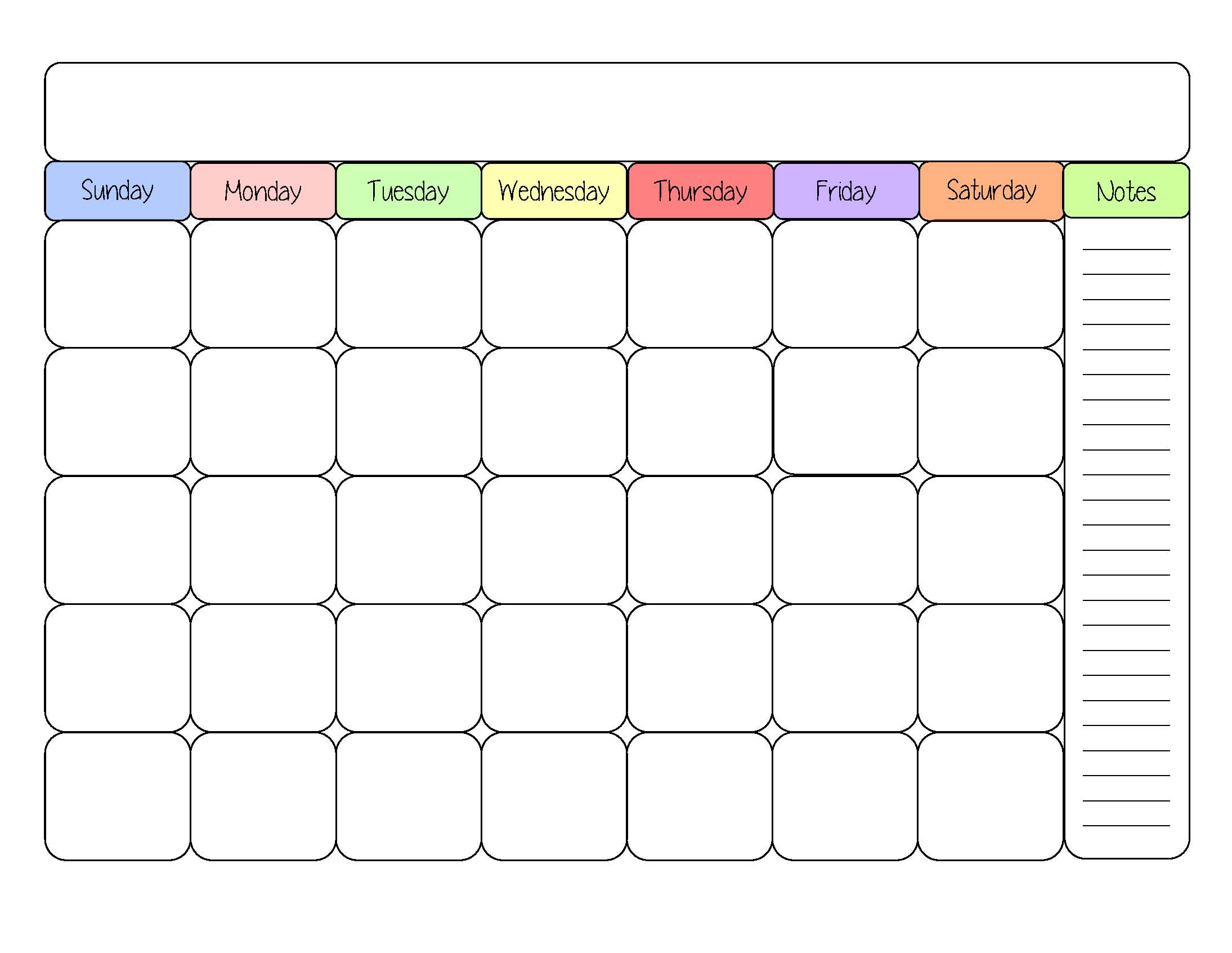 Monthly calendar clipart template clip free library 8×10 Blank Calendar – printable calendar clip free library