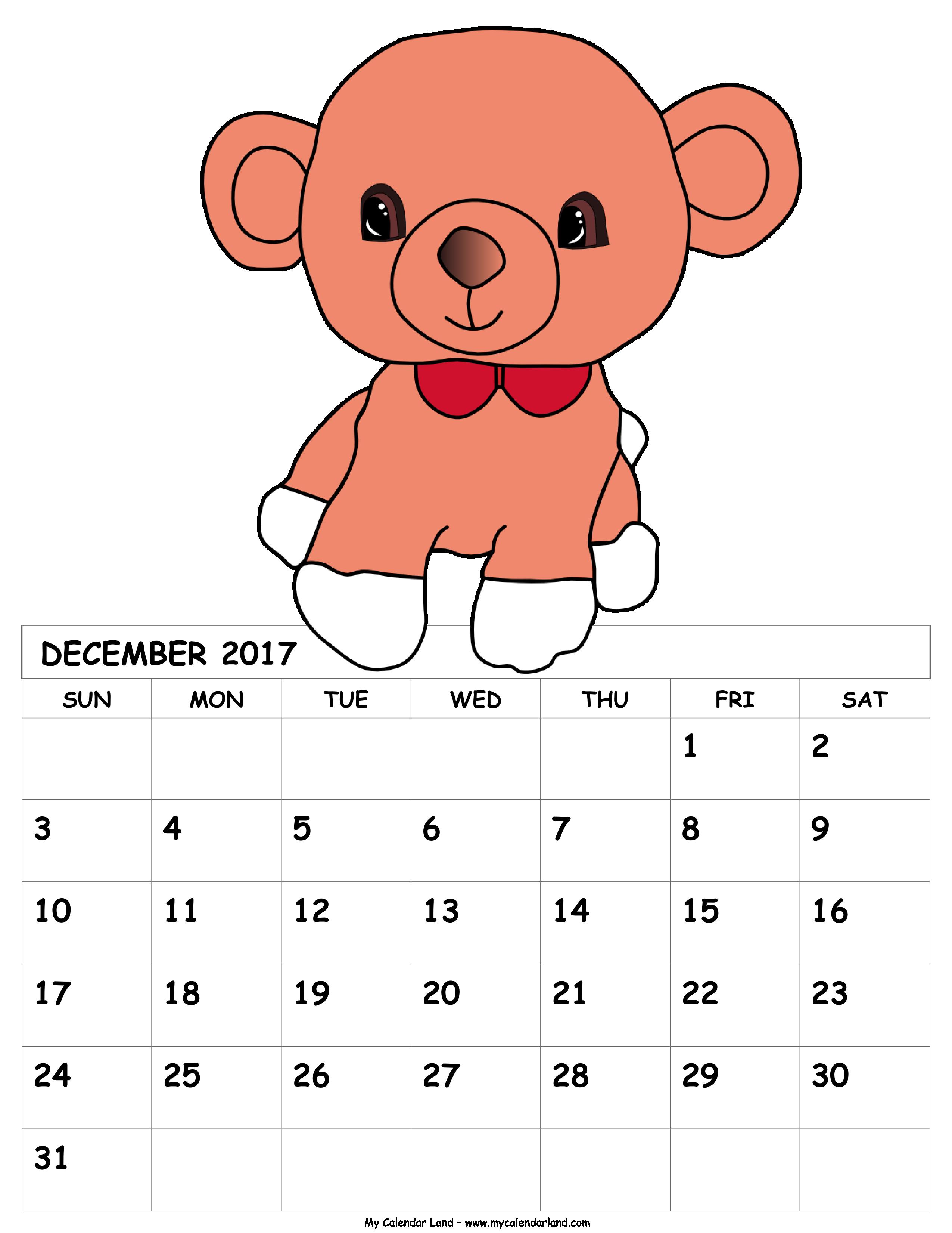 Monthly calendar november 2016 clipart banner royalty free December 2018 Calendar - My Calendar Land banner royalty free