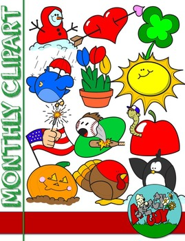 Monthly clipart vector library download Monthly Themed Clipart - Free vector library download