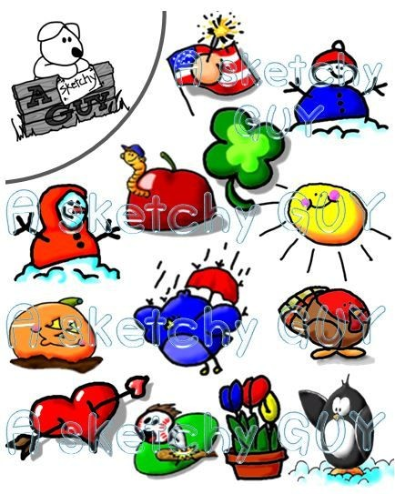 Monthly clipart picture free Monthly Themed Clipart picture free