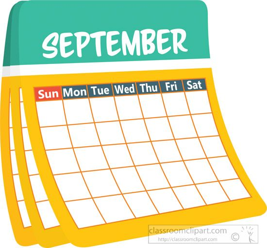 Monthly clipart picture freeuse Monthly Calendar September Clipart | Monthly Clipart ... picture freeuse