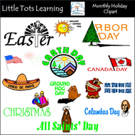 Monthly clipart png Monthly Holiday Clipart BUNDLE - Personal and Commercial Use png