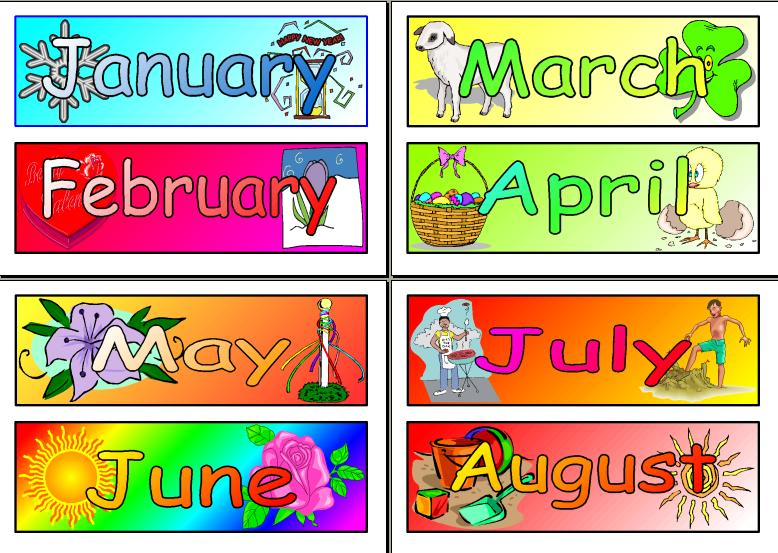 Months clipart banner freeuse stock 20+ Months Of The Year Clipart | ClipartLook banner freeuse stock