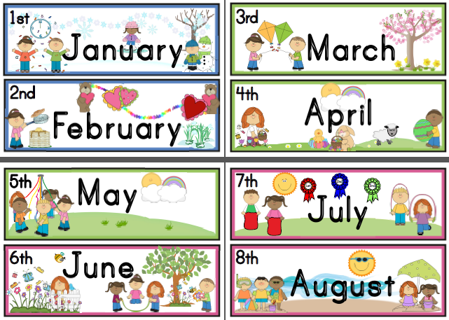 Months clipart png black and white Months Of The Year Clipart & Look At Clip Art Images ... png black and white