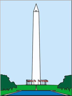Monument clipart images jpg royalty free Clip Art: Washington Monument Color I abcteach.com | abcteach jpg royalty free