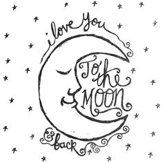 Moon and back clipart black and white png stock 71 Best I love you to the moon and back images in 2016 | I love you ... png stock