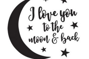 Moon and back clipart black and white clip freeuse download Love you to the moon and back clipart 4 » Clipart Station clip freeuse download